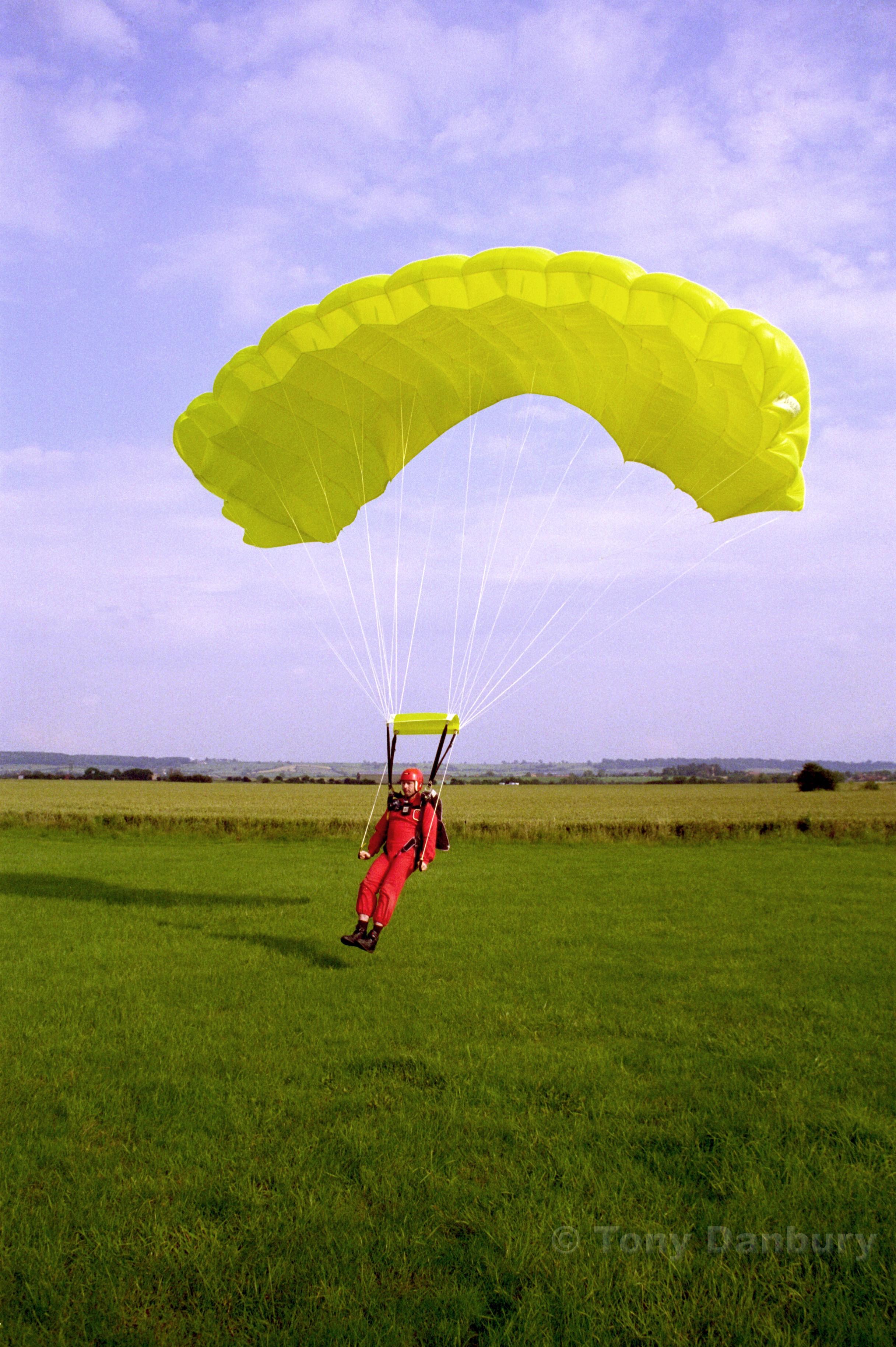 Gary Marshall executes a full flare landing